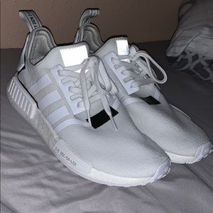 Adidas NMD_R1 White w/ black